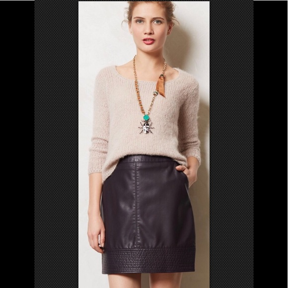 128de148af Anthropologie Skirts | Vanessa Virginia Vegan Faux Leather Mini A ...